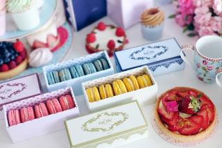 Delicious Macarons Background for Android, iPhone and iPad