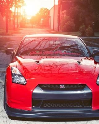Red Nissan GTR Japanese Sport Car - Obrázkek zdarma pro Nokia Asha 502