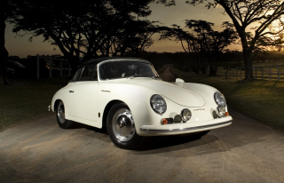 Porsche 356 B Cabriolet Retro Class Background for Android, iPhone and iPad