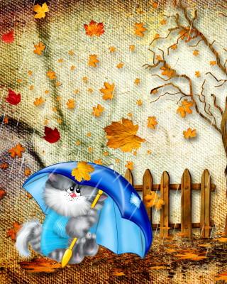 Autumn Cat - Obrázkek zdarma pro 320x480