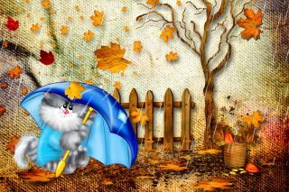 Autumn Cat - Obrázkek zdarma pro Samsung Galaxy Tab 3