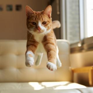 Cat Jump - Obrázkek zdarma pro iPad mini 2
