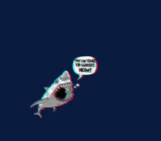 3D Shark - Obrázkek zdarma pro iPad mini