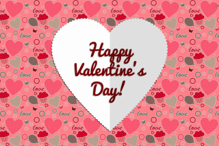 Happy Valentine Day Greeting Background for Nokia Asha 200