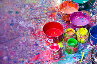 Paintings for Holi Festival - Obrázkek zdarma pro Widescreen Desktop PC 1280x800