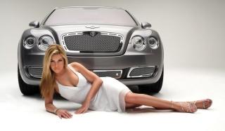 Posh Bentley Model - Obrázkek zdarma pro 960x800