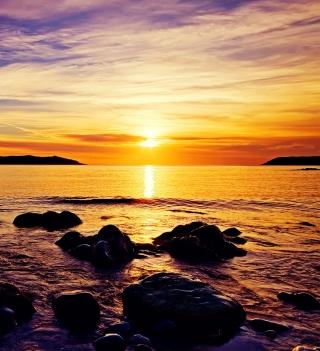 Golden Sunrise Beach - Obrázkek zdarma pro 208x208