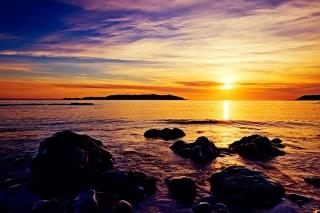 Golden Sunrise Beach - Obrázkek zdarma pro Samsung Galaxy S6 Active