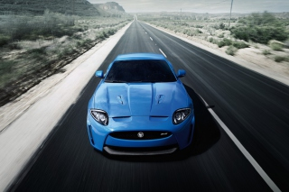 Blue Jaguar Xk R 2012 Wallpaper for Android, iPhone and iPad