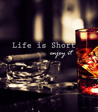 Life is short, so enjoy it - Obrázkek zdarma pro Nokia Asha 308