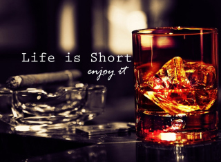 Life is short, so enjoy it - Obrázkek zdarma pro 1024x768