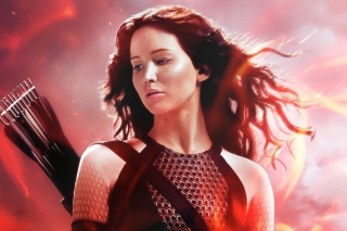 Katniss In The Hunger Games Catching Fire Background for Android, iPhone and iPad