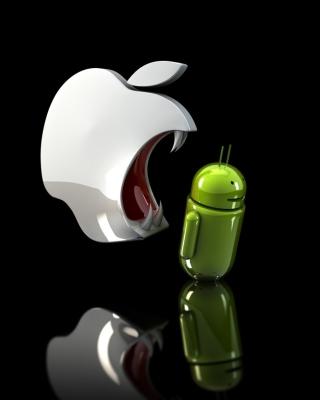 Apple Against Android - Obrázkek zdarma pro 320x480