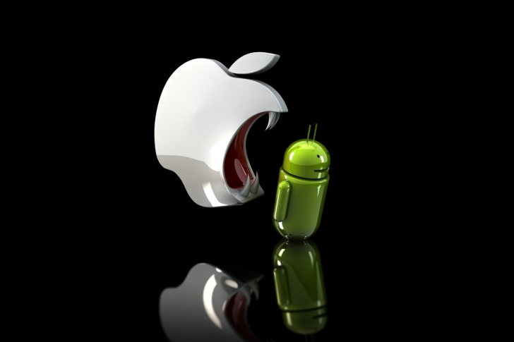 Apple Against Android wallpaper