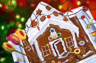 Chocolate Christmas Cake Background for Android, iPhone and iPad