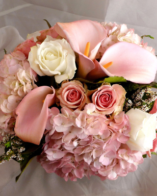 White Roses Bouquet - Obrázkek zdarma pro iPhone 5S