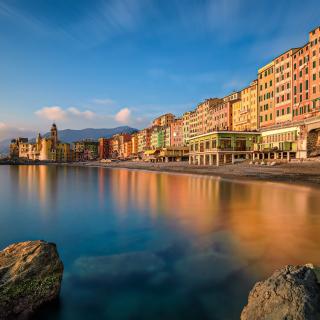 Camogli City in Portofino - Obrázkek zdarma pro 320x320