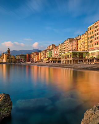 Camogli City in Portofino - Obrázkek zdarma pro 132x176