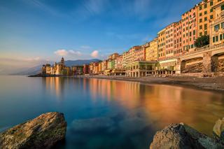 Free Camogli City in Portofino Picture for Android, iPhone and iPad