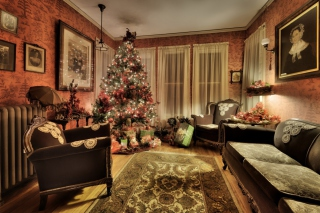 Christmas Interior Decorations Picture for Android, iPhone and iPad