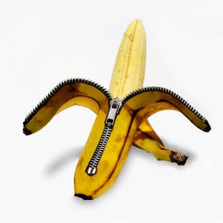 Funny banana as zipper - Obrázkek zdarma pro iPad
