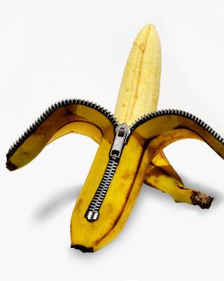 Funny banana as zipper - Obrázkek zdarma pro 480x854