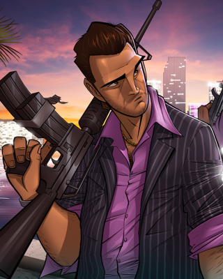 Tommy Vercetti in Grand Theft Auto Vice City - Obrázkek zdarma pro iPhone 4S
