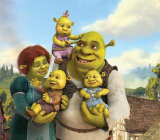 Shrek And Fiona's Babies - Obrázkek zdarma pro iPad mini 2