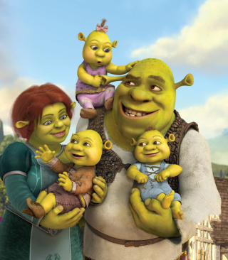 Shrek And Fiona's Babies - Obrázkek zdarma pro Nokia C2-03