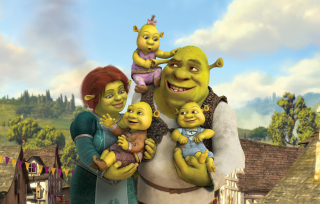 Shrek And Fiona's Babies - Obrázkek zdarma pro 1366x768