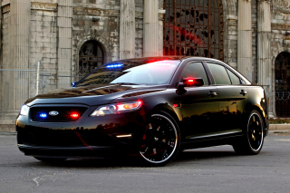Ford Taurus Police Car Background for Android, iPhone and iPad