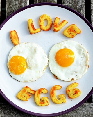 I Love Eggs - Obrázkek zdarma pro iPhone 6