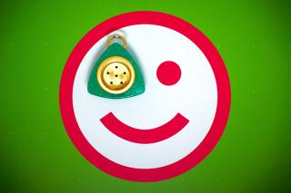 Plate Smile - Obrázkek zdarma pro Nokia XL