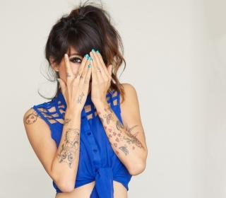 Girl With Tattoos - Obrázkek zdarma pro 128x128