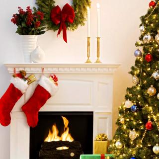 Holiday Fireplace - Obrázkek zdarma pro 208x208