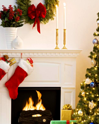 Holiday Fireplace - Obrázkek zdarma pro 320x480