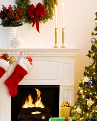 Holiday Fireplace - Obrázkek zdarma pro Nokia Lumia 710