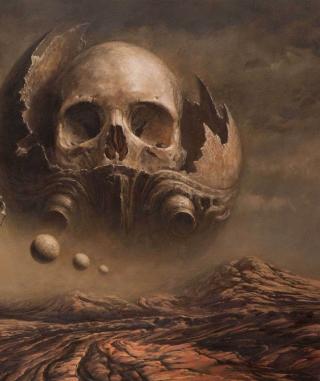 Skull Desert - Obrázkek zdarma pro iPad mini 2