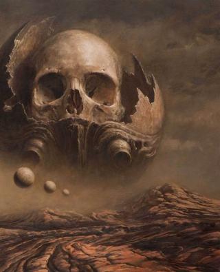 Skull Desert - Obrázkek zdarma pro Nokia 206 Asha
