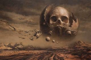 Skull Desert - Obrázkek zdarma pro 720x320
