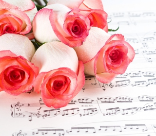 Flowers And Music - Obrázkek zdarma pro 1024x1024