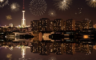 Fireworks In Berlin Wallpaper for Android, iPhone and iPad