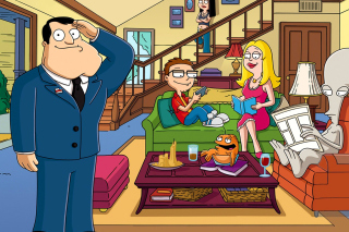 American Dad Cartoon Background for Android, iPhone and iPad