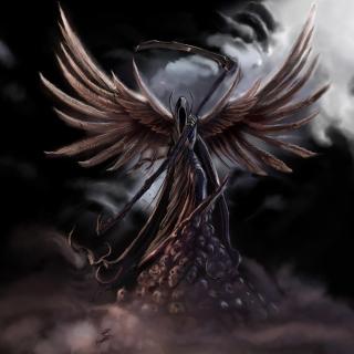 Grim Black Angel - Obrázkek zdarma pro 320x320