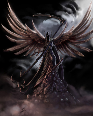 Grim Black Angel - Obrázkek zdarma pro Nokia C1-01