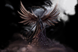 Grim Black Angel - Obrázkek zdarma pro Widescreen Desktop PC 1680x1050