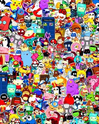 Cartoon Stickers - Obrázkek zdarma pro Nokia 300 Asha