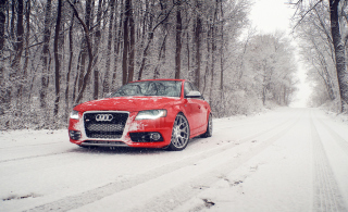 Red Audi S4 Wallpaper for Android, iPhone and iPad