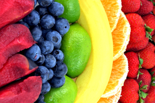 Strawberry, orange, bananas - Obrázkek zdarma pro Widescreen Desktop PC 1280x800