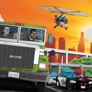 Grand Theft Auto 5 Los Santos Fight - Obrázkek zdarma pro iPad